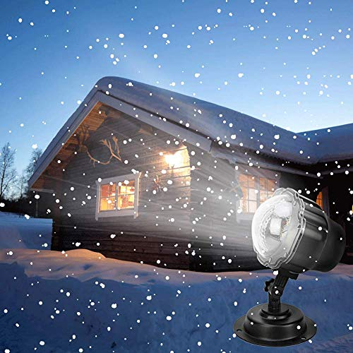 Syslux Snowfall LED Christmas Lights Projector, Remote Control Indoor Outdoor Holiday Lights Rotatable Snowflake for Christmas Halloween Wedding Home Party Garden Landscape Wall Decorations for $<!--$26.99-->