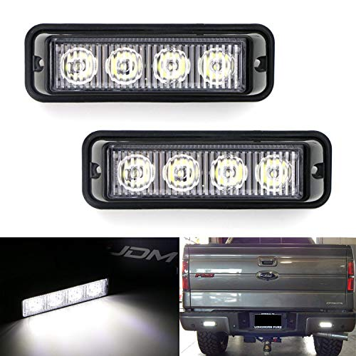 iJDMTOY Xenon White Mini LED Light Bars as Backup or Driving Lights For Truck Jeep Off-Road ATV 4WD 4x4, Spot Beam LED Assy Powered by (4) 5W LED Diodes