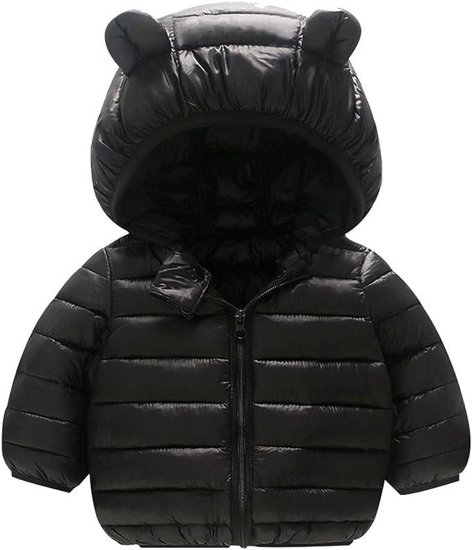 imbottito CHMORA Cappotti invernali per bambini con cappuccio leggero Puffer giacca per neonati e bambine 12 mesi-5 anni