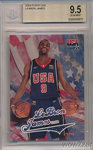 Gem Mint Bgs 9.5 (2003/04 Fleer USA Lebron James Rookie BGS 9.5 GEM MINT ! Awesome SUPER HIGH Grade Rookie of Olympic & THREE TIME NBA Champion Cleveland Cavaliers! Shipped in Ultra Pro Graded Card Sleeve to Protect it)