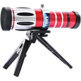hsini 20x Optical Zoom Telescope Camera Lens Telephone for Samsung Galaxy Note 3 N9005 - Red