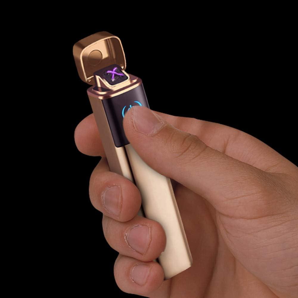 Secouez pour allumer Fil Chauffant Intelligent D/étecteur de Gravit/é /Électronique USB Rechargeable Anti-vent Coupe-vent plus l/éger Sans flamme Bobine Briquet No/ël Cadeau pour homme Briquet Electrique