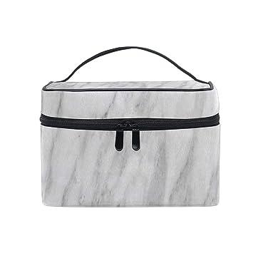 Amazon.com: Bolsa de cosméticos abstracta gris con textura ...