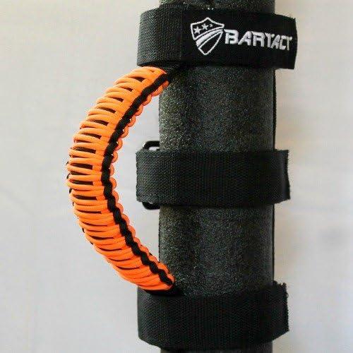 Universal Headrest 550 Paracord Grab Handles Pair Black//NEON Orange Bartact TAOGHHPBN - 100/% American Made