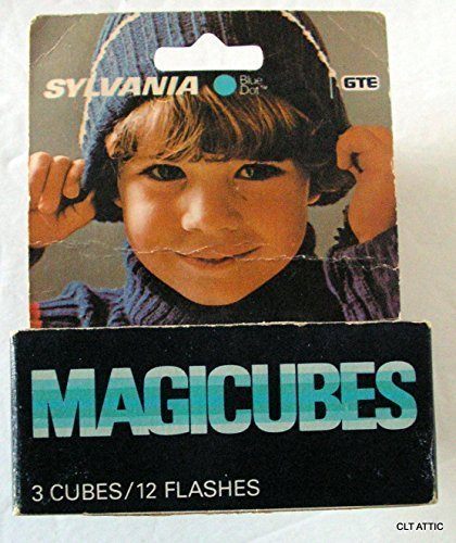 Sylvania Blue Dot MAGICUBES MAGICUBES For X-Pattern Camera Mount Sockets 3 Cubes / 12 Flashes