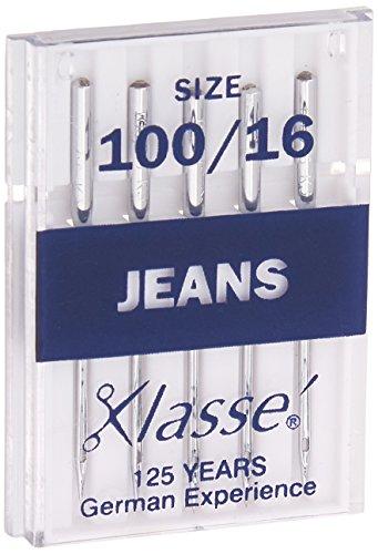 Tacony Corporation A5103-10016 Klasse Jeans/Denim Machine Needles-100/16 5/Pkg
