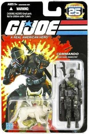 G.I. Joe 25th Anniversary: Snake Eyes (Commando) & Timber Wolf 3.75 Inch Action Figure -