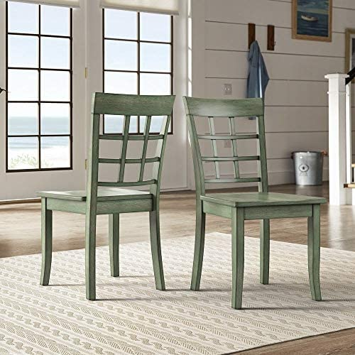 Inspire Q Wilmington II Window Back Wood Dining Side Chairs Set of 2