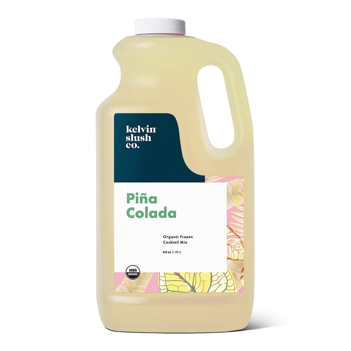 Kelvin Slush Co. – Piña Colada – Organic Frozen Cocktail & Slush Mix – Award-Winning Slush Machine & Blender Mix, Bars, Restaurants, At Home (64 oz bottle)