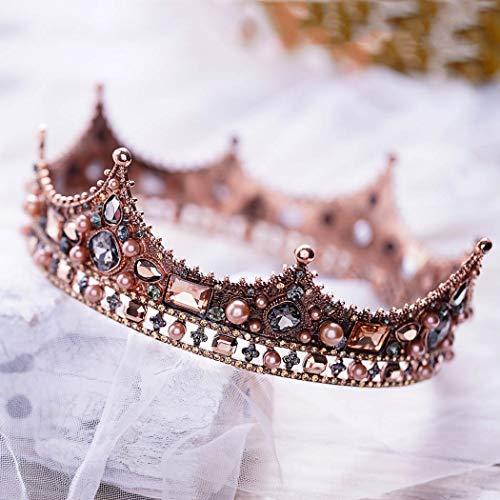 (Barogirl Bridal Wedding Queen Crowns and Tiaras Rhinestones Vintage Pageant Crown Headband for Women (Full)