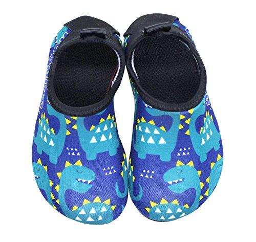 Qevellya Kids Water Shoes Swim Slip on Barefoot Aqua Socks Shoes for Beach Pool Surfing Boys Girls Toddler by Qevellya (Image #4)