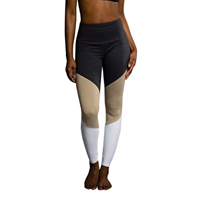 Onzie High Rise Track Legging 2046 Taupe Combo
