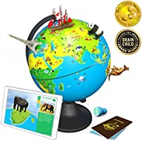 Shifu Orboot: The Educational, Augmented Reality Based Globe | STEM Toy for Boys & Girls Age 4 to 10 years | Learning Toy Gift for Kids (No Borders or Names on Globe)