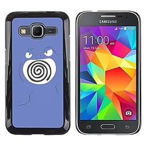LECELL--Funda protectora / Cubierta / Piel For Samsung Galaxy Core Prime -- Remolino púrpura de Poke Monster --