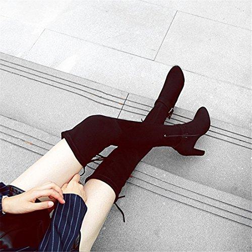 Stivali ginocchio con moda da e nero  alla grande DEDE tacco  nero  1e185a
