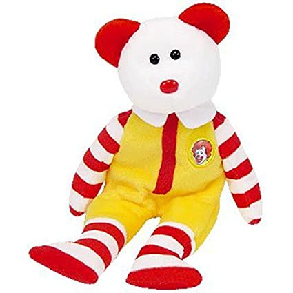 Amazon.com  TY Beanie Baby - RONALD McDONALD the Bear (Orlando McDonalds  Convention Center Exclusive)  Toys   Games 34f7fef6bdd6