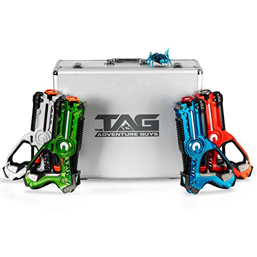 The Adventure Guys Deluxe Edition Lazer Tag Gun Set with Designer Case and Beetle Bug - Premium Laser Tag for Kids and The Whole Family!