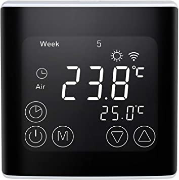 LCD BYC17.GH3 Thermostate Fußbodenheizung Temperatur Raumthermostat+Sensorkabel