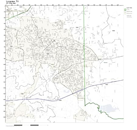 Map Of Texas Longview.Amazon Com Zip Code Wall Map Of Longview Tx Zip Code Map Laminated