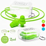 MyTravelUp - 2PACK, High fidelity EARPLUGS for hearing protection from harmful noise in daily life, ECO-FRIENDLY silicone material, GOOD ELASTICITY and PRACTICALITY (Green)