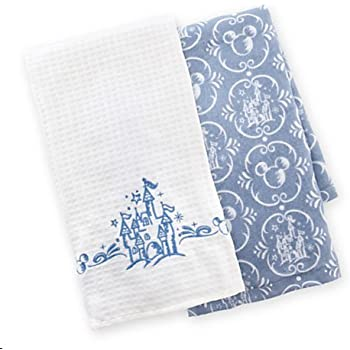Nice Disney Parks Castle Pattern Kitchen Dish Towel Set Of 2 NEW
