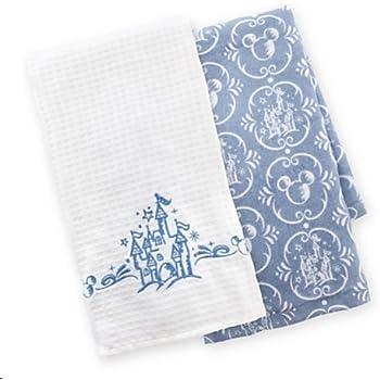Amazon.com: Disney Parks Castle Pattern Kitchen Dish Towel Set of ...