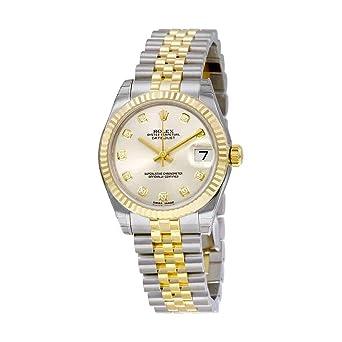 4b825dee5d6 Rolex Datejust Lady 31 Automatique Cadran argenté avec Ensemble de Diamants  Or Jaune 18 carats et