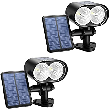 Mpow Solar Spotlight Outdoor, 2 Pack LED Solar Light Wireless Waterproof Outdoor  Security Lights For Patio Deck Yard Garden Driveway