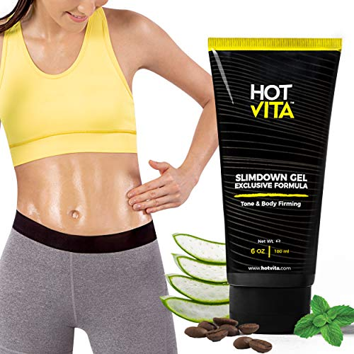 Hot Vita Slimdown Gel – Slimming Body Cream with Caffeine, Ginseng Extract, Guarana Seed, Aloe Vera and Menthol for Women ()