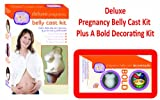 Deluxe Pregnancy Belly Cast Kit Plus A Bold Pregnancy Belly Cast Decorating Kit