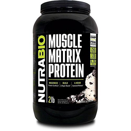 NutraBio Muscle Matrix - Whey Protein Blend (Cookies and Cream, 2 Pounds)