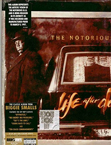 The Notorious B.I.G. ~ Life After Death (Limited Edition 3 Record Set on Clear Vinyl Number 0989 (Of 5,000) Bad Boy Records / Rhino Entertainment R1 541302 NEW Factory Sealed in the Original Shrinkwrap Features 24 Tracks) (The Notorious Big Life After Death Vinyl)