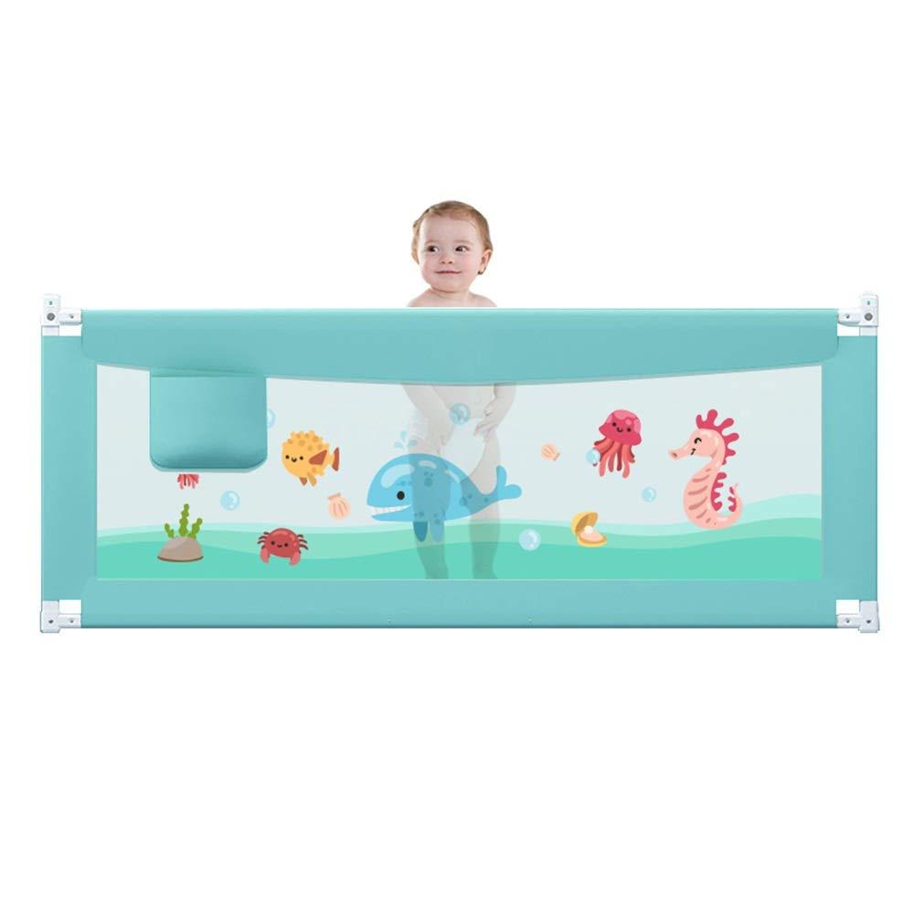 DD ベビー&マタニティ/ベビー布団寝具/ベッドガードフェンス, ベッドフェンス赤ちゃん粉々になりにくいガードレール85センチ垂直持ち上がる大きなベッド表面バッフル安全ユニバーサル-3色1.5メートル、1.8メートル、2.0メートル -子供を守る (色 : B, サイズ さいず : 1.8m) 1.8m B B07PS6JPTJ