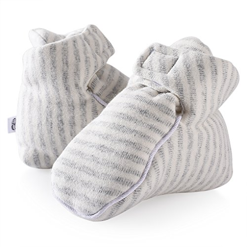 Xidan Organic Cotton Baby Bootie Ergonomic and Kick Proof (gray, 3M)