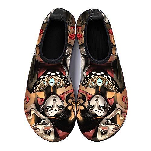 COEST Summer Outdoor Beach Swim Barefoot Shoe Clown Girl Aqua Water Shoes Socks for Women Men 12-13 M US Women / 10-10.5 M US Men]()