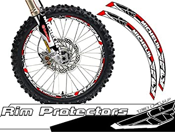 Senge Graphics Podium Red rim protector set for one 12 inch rim and one 14 inch rim