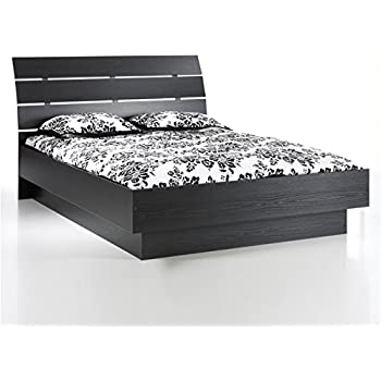 Amazon Com Ikea Hopen Queen Bed Frame Black Brown