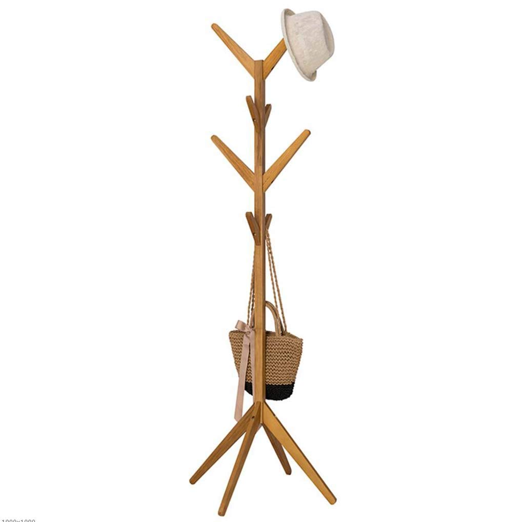 Woodcolor Coat Rack, Solid Wood Flooring Hanger greenical Hanger Tree Shape Home Coat Rack,Woodcolor