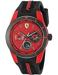 Ferrari Mens 0830255 REDREV T Analog Display Japanese Quartz Black Watch