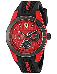 Ferrari Men's 0830255 REDREV T Analog Display Japanese Quartz Black Watch