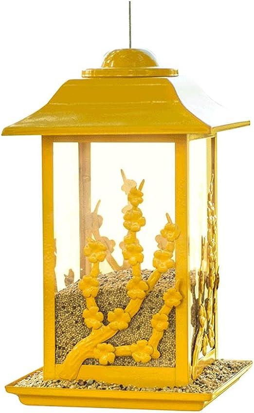 Villa Escuela Jardín Área escénica Balcón Aves Contenedor de Comida Amarillo Al Aire Libre Observación de Aves Comedero: Amazon.es: Productos para mascotas