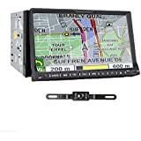 TOCADO Double 2 Din 7 HD In Dash Car Stereo DVD Player with GPS Navigation 3D Bluetooth IPod Radio BT DVD CD Receiver, None TV +Backup Camera & Map Card