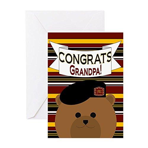 CafePress Grandpa - U. S. Army Officer Greeting Cards Greeting Card, Note Card, Birthday Card, Blank Inside Matte
