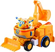Super Wings - Donnie's Dozer | Transforming Toy Vehicle Set | Includes Transform-a-Bot Donnie Figure | 2&q