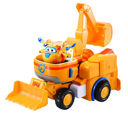 Super Wings - - Dozer | Toy Vehicle Set |, Includes Transform-a-Bot Donnie Figure | 2'' Scale by Super Wings -
