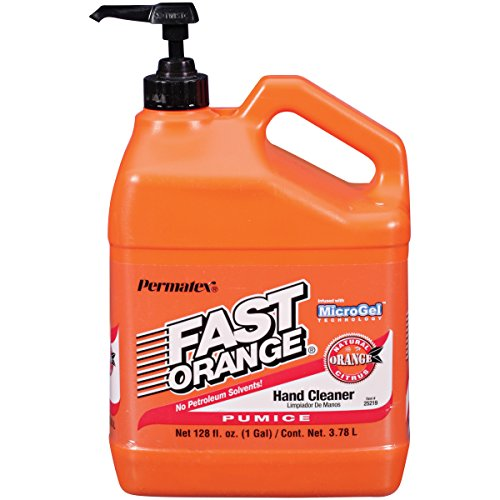 (Permatex 25219 Fast Orange Pumice Lotion Hand Cleaner with Pump, 1 Gallon)