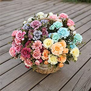 MarshLing 7 Branch 14 Heads Real-Touch Artificial Flowers - Bridal Bouquets Bridesmaid Bouquet Artificial Flowers for Wedding Party Home Garden Decoration Perfect Quality 40