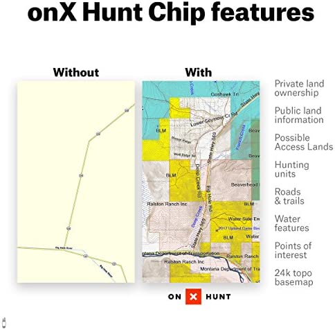 ONX Hunt Wisconsin Hunt Chip for Garmin GPS – Hunting Maps with Public Private Land Ownership – Hunting Units – Includes Premium Membership for onX Hunting App for iPhone, Android Web