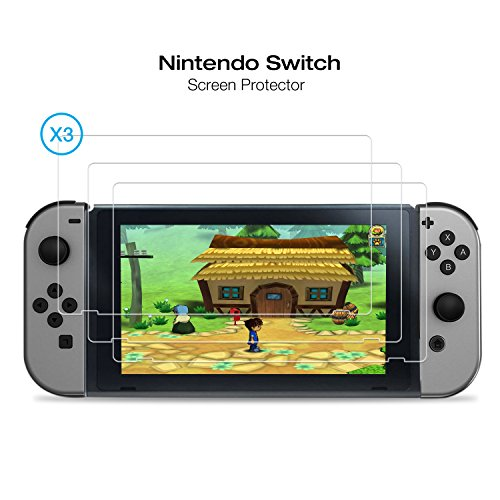 Nintendo Switch Screen Protector Jelly 3 Pack