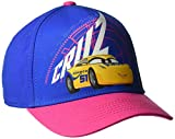 Disney Girls' Big Boys' Cars Cruz Glitter Adjustable Baseball Cap, Purple, One Size
